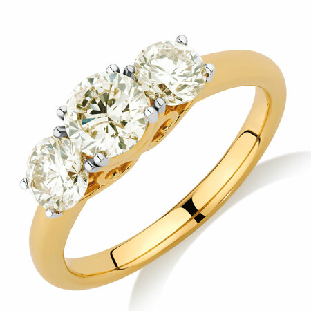 Engagement Ring with 1.63 Carat TW of Diamonds in 14ct Yellow Gold