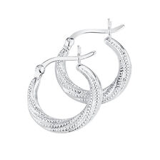 Hoop Earrings in Sterling Silver