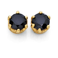 Stud Earrings with Sapphires in 10ct Yellow Gold
