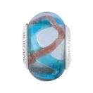 Turquoise & Amber Murano Glass Charm