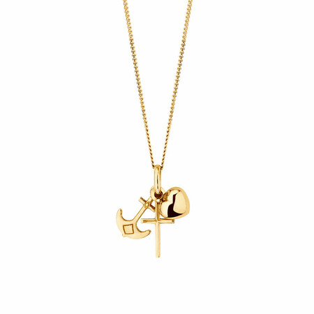 Faith & Hope Charity Pendant in 10ct Yellow Gold