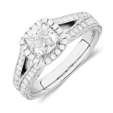 Sir Michael Hill Designer GrandAmoroso Engagement Ring with 1.83 Carat TW of Diamonds in 14ct White Gold