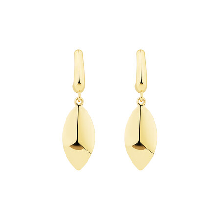Drop Stud Earrings in 10ct Yellow Gold