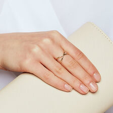 Geometric Ring in 10ct Yellow Gold