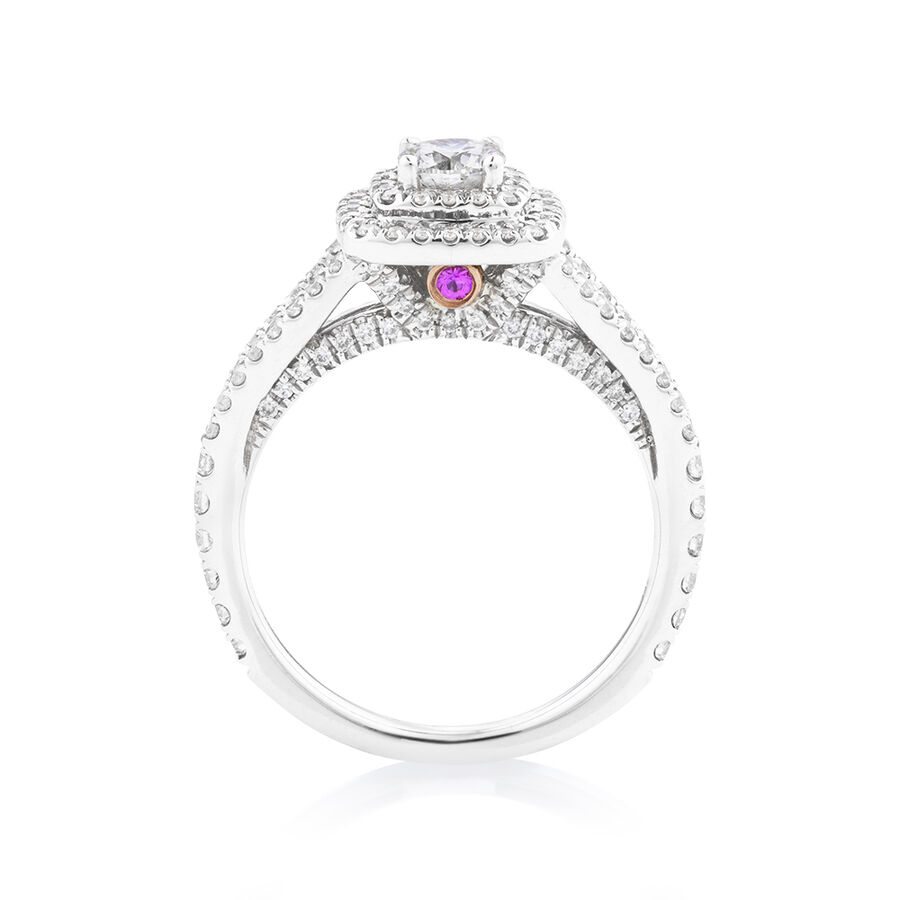 Sir Michael Hill Designer GrandApreggio Ring With 0.95 Carat TW Of Diamonds In 10ct White And Rose Gold