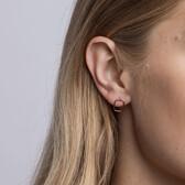 Open Rectangle Stud Earrings in 10ct Rose Gold