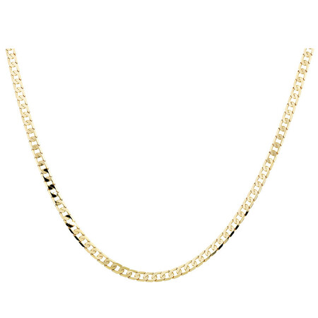 "55cm (22"") Curb Chain in 10ct Yellow Gold"