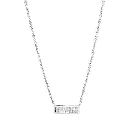 Bar Necklace with 0.10 Carat TW of Diamonds in Sterling Silver