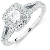 Sir Michael Hill Designer GrandArpeggio Engagement Ring with 0.95 Carat TW of Diamonds in 14ct White Gold