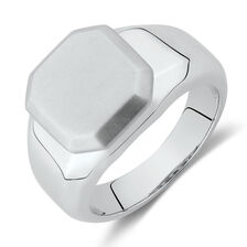 Matte Signet Ring in Stainless Steel