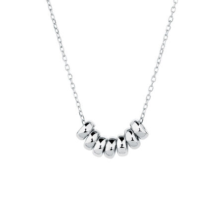 Lucky Rings Necklace in Sterling Silver