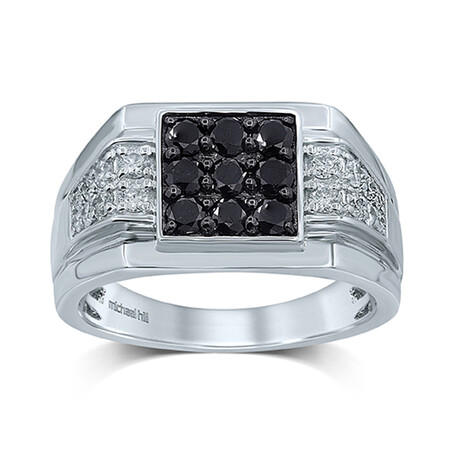 Ring with 1.25 Carat TW of Diamonds in 10ct White Gold