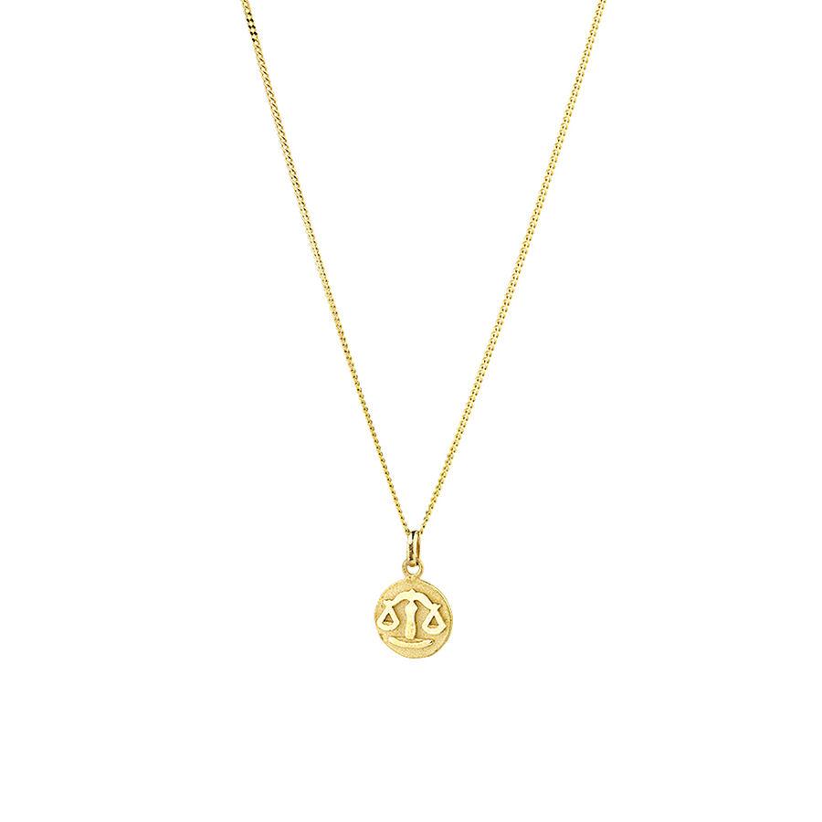 Libra Zodiac Pendant in 10ct Yellow Gold