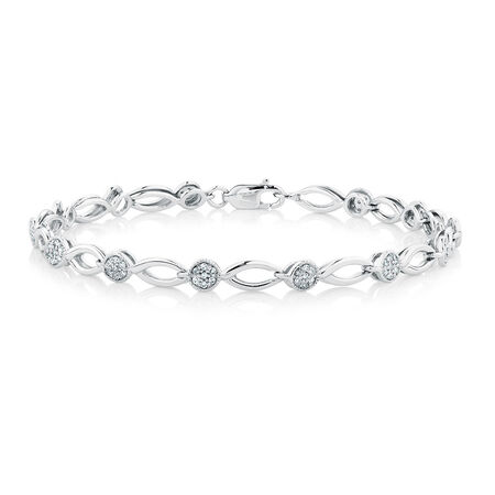 Bracelet with 1/2 Carat TW of Diamonds in Sterling Silver