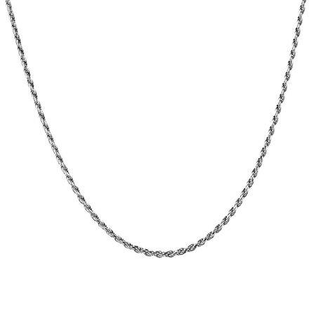 "45cm (18"") Rope Chain in Sterling Silver"