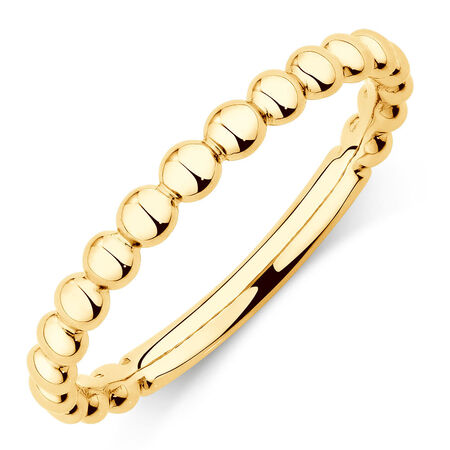 Bubble Stacker Ring in 10ct Yellow Gold