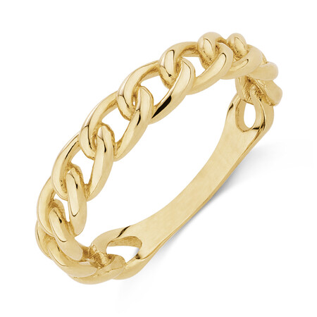 Link Ring in 10kt Yellow Gold