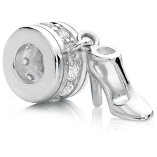 Cubic Zirconia & Sterling Silver High Heel Charm