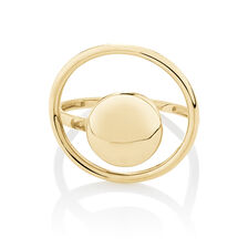 Fancy Circle Ring in 10ct Yellow Gold