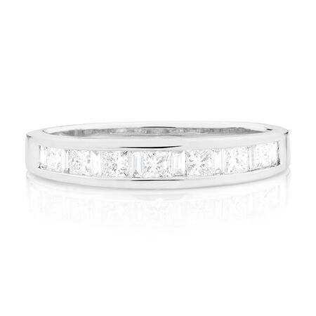 Wedding Band with 1/2 Carat TW of Diamonds in 18ct White Gold
