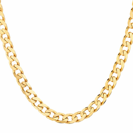 """55cm (22"""") Solid Curb Chain in 10ct Yellow Gold"""