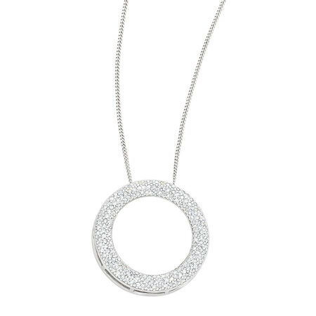 Pendant with 1/2 Carat TW of Diamonds in 10ct White Gold