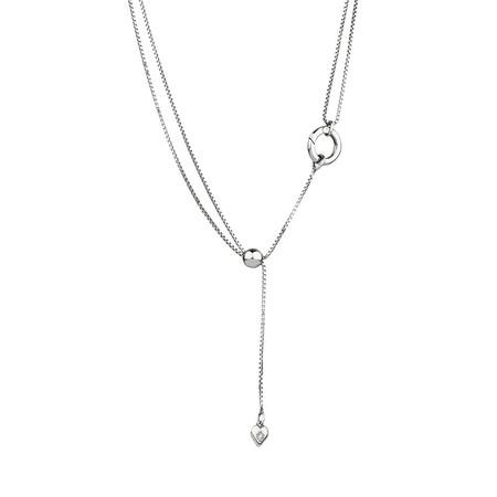Adjustable Slider Chain in Sterling Silver