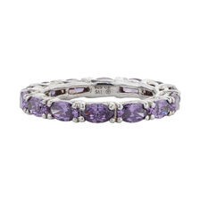 Online Exclusive - Ring with Amethyst & Cubic Zirconia in Sterling Silver