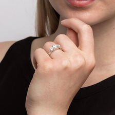 ... Three Stone Engagement Ring with 1 1 2 Carat TW of Diamonds in 14ct  White 95fecc67d9fa