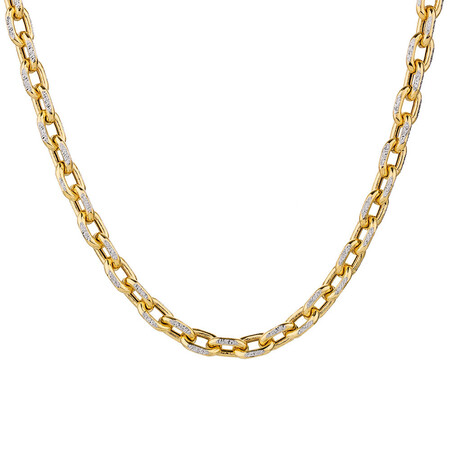 """45cm (18"""") Hollow Chain in 10ct Yellow & White Gold"""