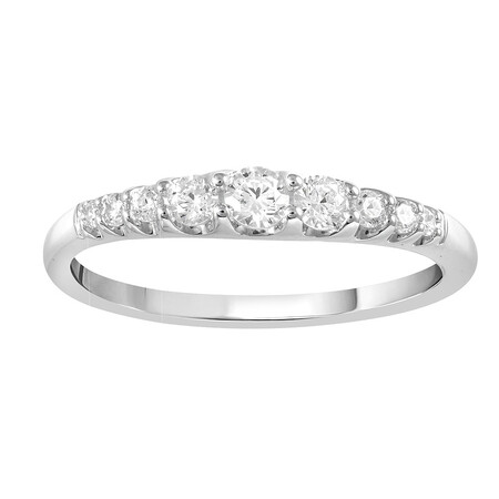 Wedding Ring with 0.25 Carat TW of Diamonds in 10ct White Gold