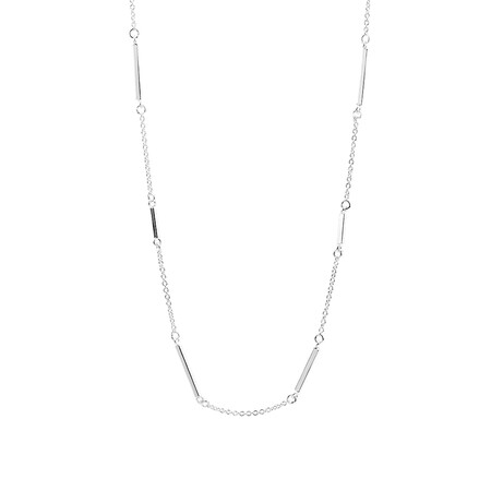 "45cm (18"") Bar Necklace in Sterling Silver"