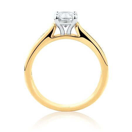 Engagement Ring with 1 1/4 Carat TW of Diamonds in 14ct Yellow & White Gold