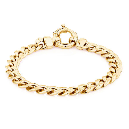 """19cm (7.5"""") Curb Bracelet in 10ct Yellow Gold"""