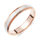 Wedding Band in 10ct White & Rose Gold