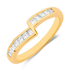 Wedding Band with 0.40 Carat TW of Diamonds in 18ct Yellow Gold