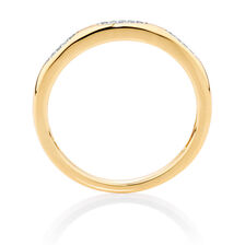Diamond Set 10ct Yellow Gold Stack Ring