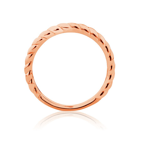 Twist Patterned Stacker Ring in 10ctRose Gold