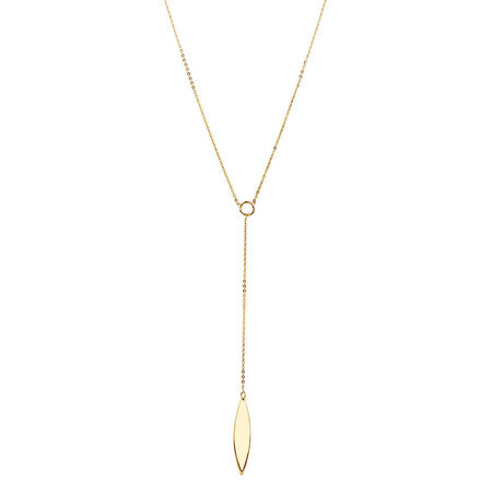 Teardrop Necklace in 10ct Yellow Gold