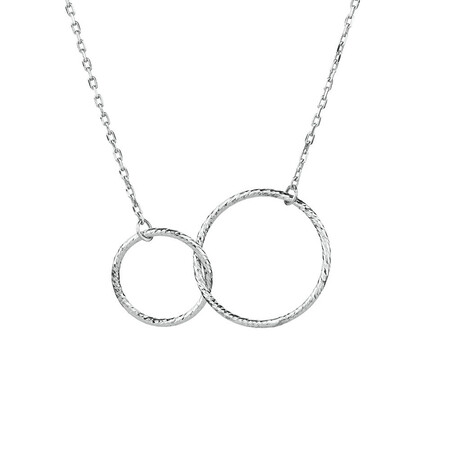 Circle Link Necklace in Sterling Silver