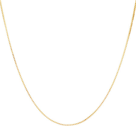 "45cm (18"") Box Chain in 14ct Yellow Gold"