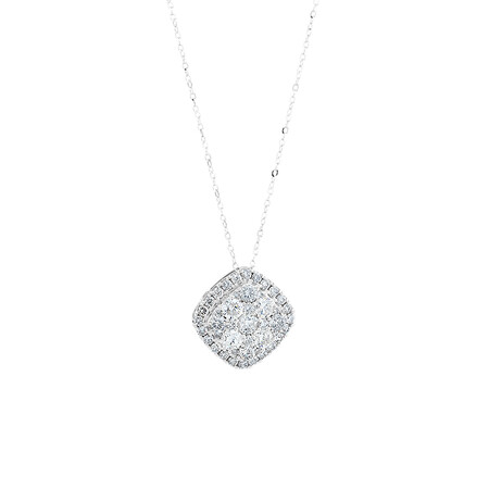 Pendant with 2 Carat TW of Diamonds in 10ct White Gold