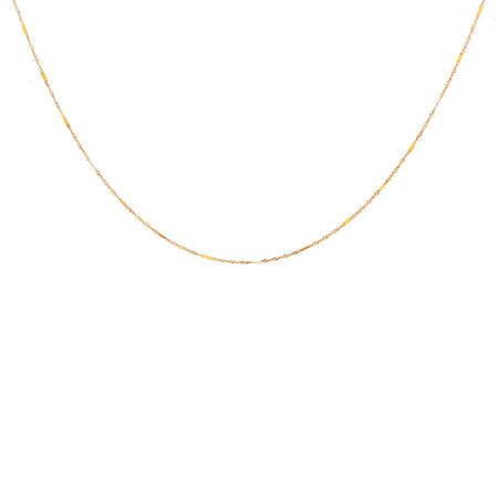 """45cm (18"""") Singapore Chain in 10ct Yellow Gold"""