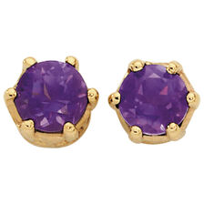 Amethyst Stud Earrings in 10ct Yellow Gold