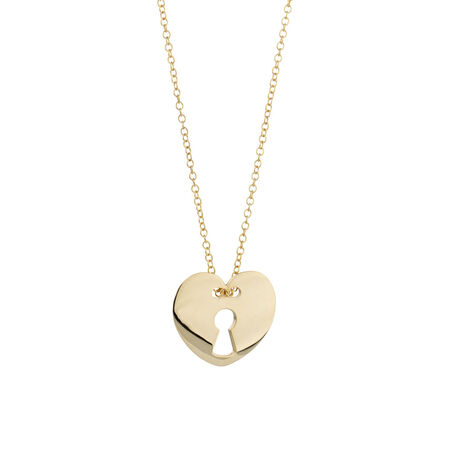 Online Exclusive - Heart Necklace in 10ct Yellow Gold