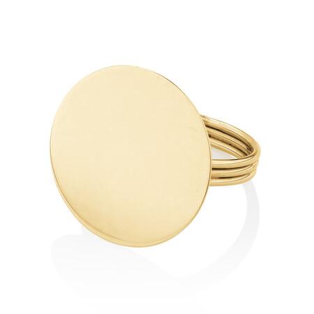 Circle Ring in 10ct Yellow Gold