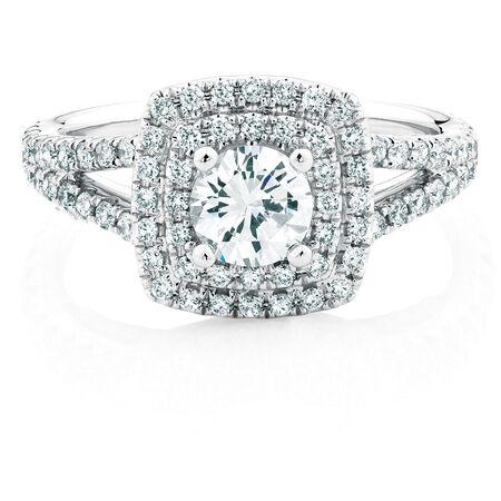 Sir Michael Hill Designer GrandArpeggio Engagement Ring with 1.69 Carat TW of Diamonds in 14ct White Gold