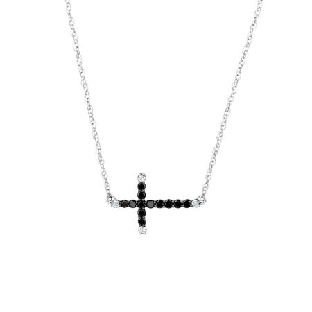 Pendant with 0.20 Carat TW of Enhanced Black Diamonds in Sterling Silver