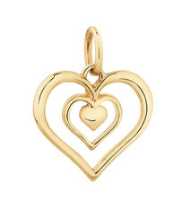 10ct Yellow Gold Heart Mini Pendant