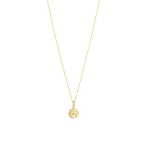 Virgo Zodiac Pendant in 10ct yellow Gold